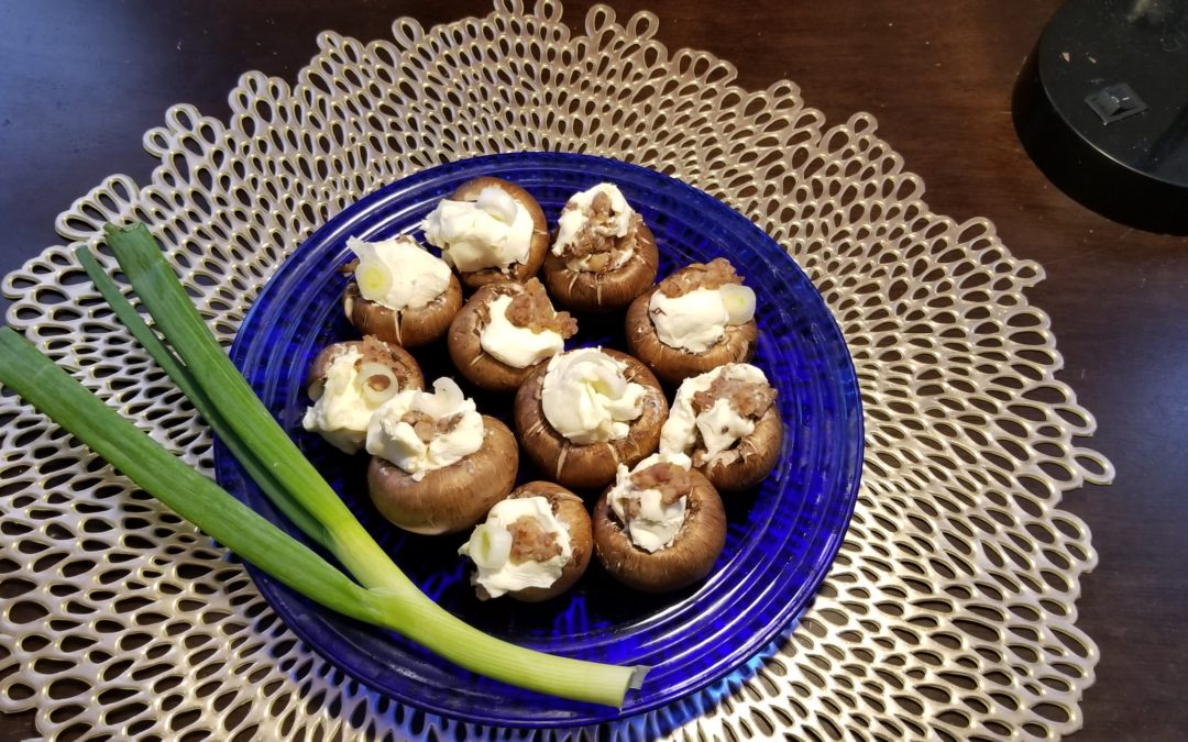 Mushrooms with Cream Cheese and Sausage